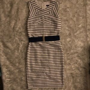 NAOT Ann Taylor Striped Dress with Belt